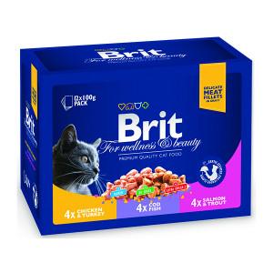 Kapsičky BRIT Premium Cat Family Plate Poultry + Fish 1200g