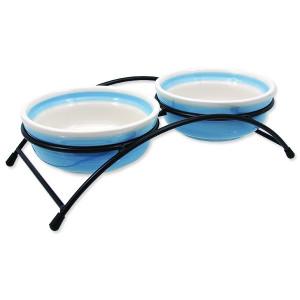 Set MAGIC CAT misky keramické se stojánkem modré 1ks