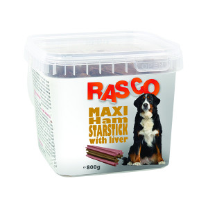 Pochoutka RASCO Dog hvězdy šunkové sjátry 800g