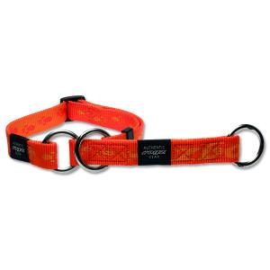 Obojek ROGZ Alpinist polostahovací oranžový M 1ks