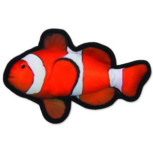 Hračka DOG FANTASY textilní ryba klaun 26 cm 1ks