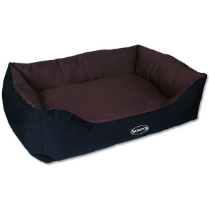 Pelíšek SCRUFFS Expedition Box Bed čokoládový XL 1ks