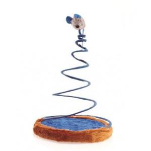 Hračka Kočka Myš na pružině Chilly 24x28 cm 1 ks Lill