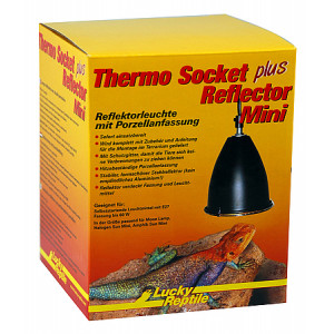 Lucky Reptile Thermo Socket plus Reflector Mini, V.11,5 x ø10,5 cm