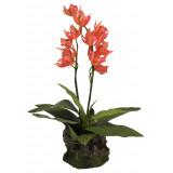 Lucky Reptile Jungle Plants kvetoucí Orchidej - červená cca 40 cm