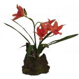Lucky Reptile Jungle Plants kvetoucí Orchidej - červená cca 25 cm