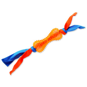 Přetahovadlo DOG FANTASY látkové s kostí oranžové 31 cm 1ks