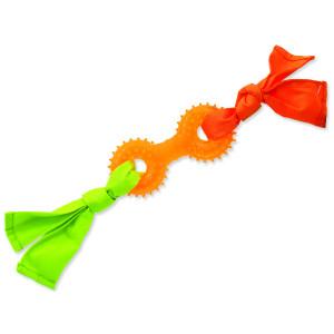 Přetahovadlo DOG FANTASY látkové s činkou oranžové 31 cm 1ks