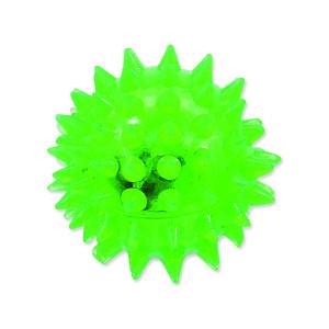 Hračka DOG FANTASY míček LED zelený 5 cm 1ks