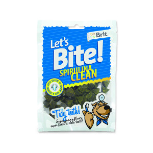 Snack BRIT Dog Lets Bite Spirulina Clean 150g
