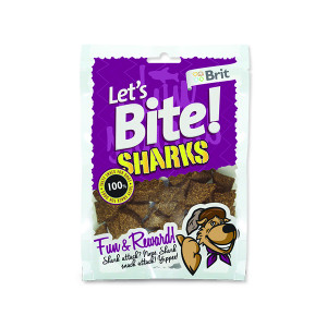 Snack BRIT Dog Lets Bite Sharks 150g