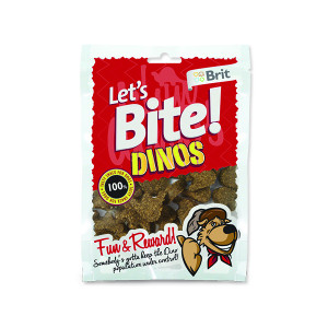 Snack BRIT Dog Lets Bite Dinos 150g
