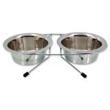Stojánek DOG FANTASY nerezová souprava 2 x 380 ml