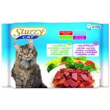 Kapsičky STUZZY Cat kuřecí + telecí multipack 400g