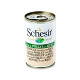 Konzerva SCHESIR Cat kuřecí + rýže 140g