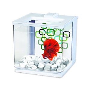 Akvárium MARINA Betta EZ Care Kit bílé 15,8 x 15,8 x 15,8 cm 2,5l