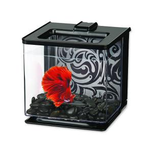 Akvárium MARINA Betta EZ Care Kit černé 15,8 x 15,8 x 15,8 cm 2,5l