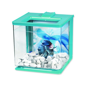 Akvárium MARINA Betta EZ Care Kit modré 15,8 x 15,8 x 15,8 cm 2,5l