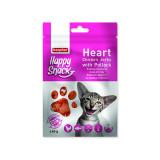 Pochoutka BEAPHAR Happy Snack Cat srdíčka z kuřecího masa a tresky 40g