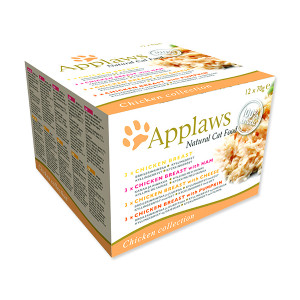 Konzervy APPLAWS Cat Chicken Selection multipack 840g