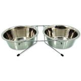Stojánek DOG FANTASY nerezový souprava 2 x 1730 ml