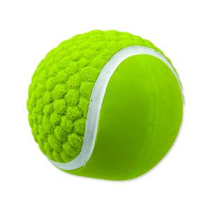 Hračka DOG FANTASY Latex míč tenisový se zvukem 7,5 cm 1ks