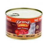 GRAND konzerva Superpremium kočka hovězí 405 g