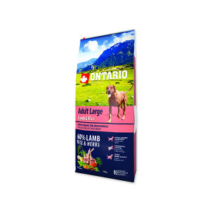 ONTARIO Dog Adult Large Lamb & Rice & Turkey 12kg + doprava zdarma