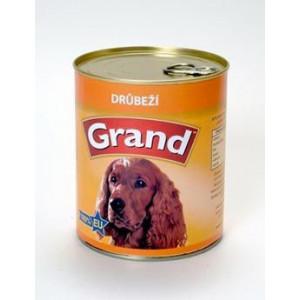 GRAND konzerva pes drůbeží 850 g