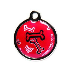 Známka ROGZ Metal Red Bone kovová S 1ks
