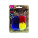 Hračka MAGIC CAT míček bavlněný s catnipem 3,75 cm 4ks