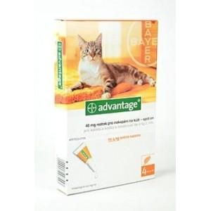Advantage 40 10% 4x0,4 ml pro kočky do 4 kg