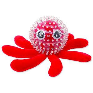 Hračka DOG FANTASY SEA TPR chobotnice v míčku 9 cm 1ks