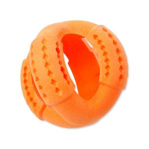 Hračka DOG FANTASY FTPR míč na pamlsky oranžový 11 cm 1ks