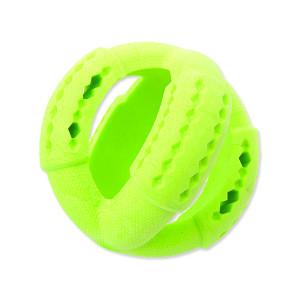 Hračka DOG FANTASY FTPR míč na pamlsky zelený 11 cm 1ks