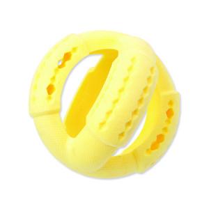 Hračka DOG FANTASY FTPR míč na pamlsky žlutý 11 cm 1ks