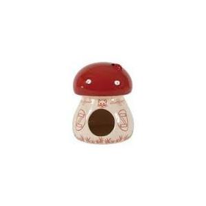 Domek pro hlodavce Houba červená 11x11x14 cm Zolux