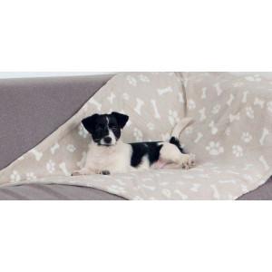 Deka pro psy KENNY béžová a kostičky 100x150 cm TR