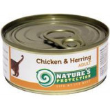 Nature's Protection Cat konzerva Adult kuře/sleď 100 g