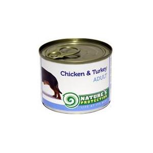Nature's Protection Dog konzerva Adult kuře/krůta 200 g