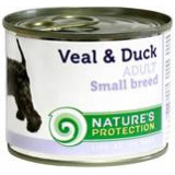 Nature's Protection Dog konzerva Small telecí/kachna 200 g