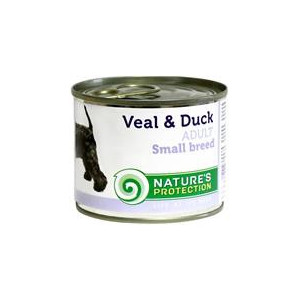 Nature's Protection Dog konzerva Small telecí/kachna 200 g