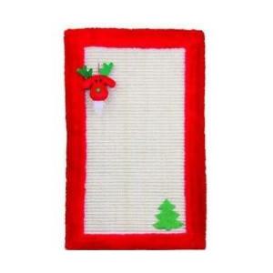 Vánoční Škrábadlo rohožka pro kočku 55x35 cm