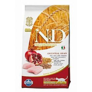 N&D Grain Free CAT Neutered Chicken&Pomegranate 300 g