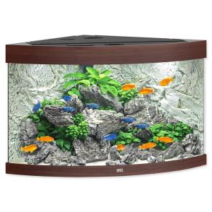 Akvárium set JUWEL Trigon LED 190 tmavě hnědé 190l