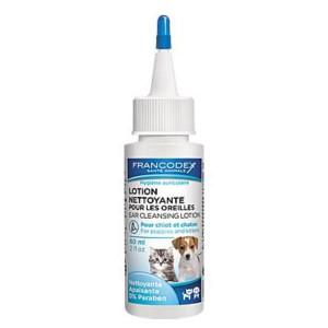Francodex Roztok čistící na uši štěně, kotě 60 ml