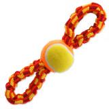 Přetahovadlo DOG FANTASY osmička barevná + tenisák 27 cm 1ks