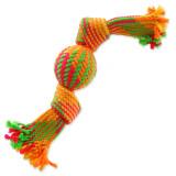 Přetahovadlo DOG FANTASY barevné míč 2 knoty 40 cm 1ks