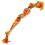 Přetahovadlo DOG FANTASY barevné míč 3 knoty 50 cm 1ks