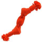 Uzel DOG FANTASY oranžový pískací 2 knoty 22 cm 1ks